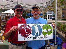 Men Holding Food Generation Sign