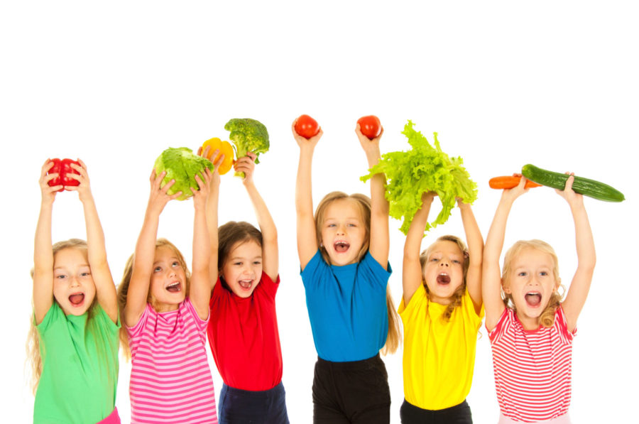 Kids Holding Vegetables